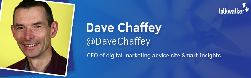 Dave Chaffey CEO of digital marketing advice site Smart Insights